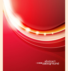Red wave abstract background vector