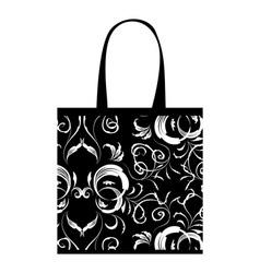 Shopping bag design floral ornament vector image vector image