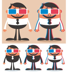 3D Glasses vector image vector image