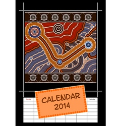 Calender cover - year 2014 vector image