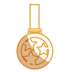 championship medal isolated icon vector image