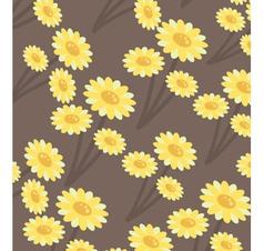 chrysanthemums wallpaper vector image vector image