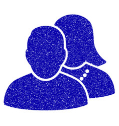 people icon grunge watermark vector image