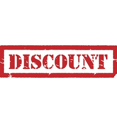 Red stamp discount vector image