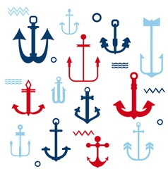 Various Anchor Collection vector image vector image