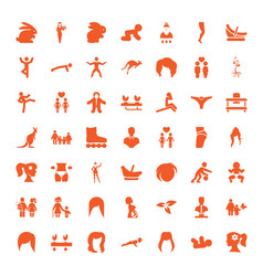 49 young icons vector