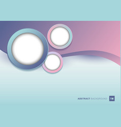 Abstract template pink wave shape with white vector