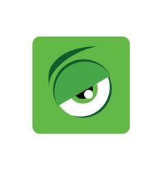 adorable color cartoon eye expression art vector image