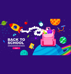Back to school online learning study from home vector
