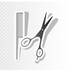barber shop sign new year blackish icon vector image