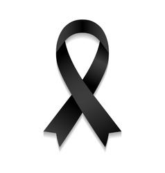 black awareness ribbon vector image