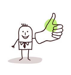 businessman with thumb up vector image