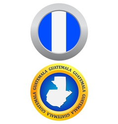Button as a symbol GUATEMALA vector