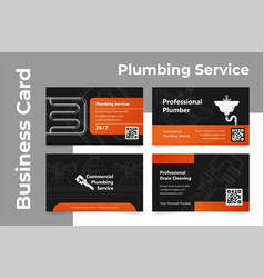 collection of commercial plumbing service business vector image