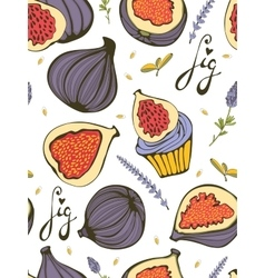 Colorful seamless pattern with figs vector image