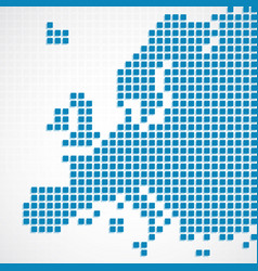 continent europe blue dotted map vector image