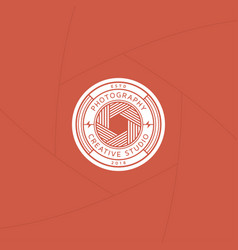 Creative photography studio badge or label design vector