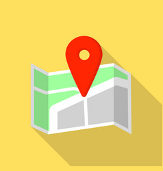 cross road pin map icon flat style vector image