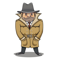 detective agent or spy man for security or police vector image