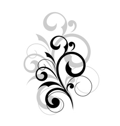 Elegant scrolling foliate design element vector image