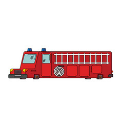 fire engine car cartoon style big red car vector image