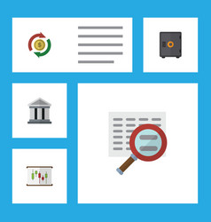 flat icon gain set of scan bank interchange and vector image