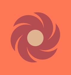 Flat icon on stylish background weather vane vector