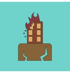 Flat icon stylish background natural disaster vector