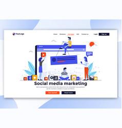 flat modern design website template - social vector image