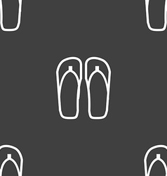 Flip-flops Beach shoes Sand sandals icon sign vector