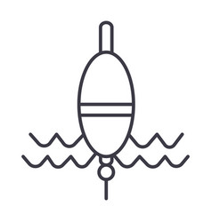 float fishing line icon sign vector image