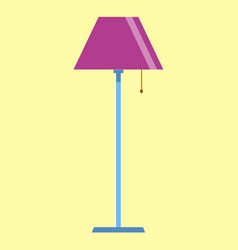 floor lamp icon on yellow background flat design vector image