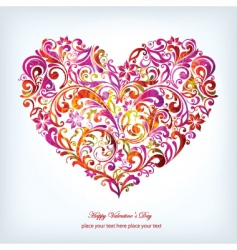 floral graphic heart vector image