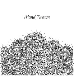 Floral hand drawn doodle vector