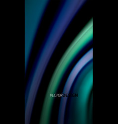 fluid rainbow colors on black background vector image