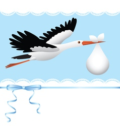Flying stork vector