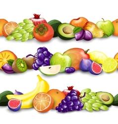 Fruits Borders vector image