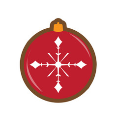 gingerbread with a christmas ball ornament shape vector image