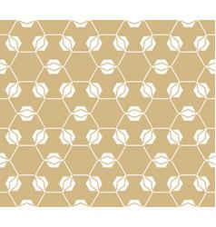 Golden lattice pattern geometric seamless texture vector