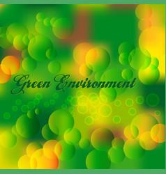 green environment vector image