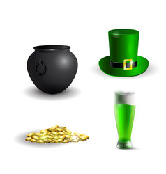 Green st patrick s day hat vector