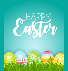 Happy easter cute background with eggs eps10 vector
