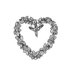 heart shaped wreath vector image