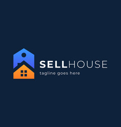 home sale logo real estate house sale price tag vector image