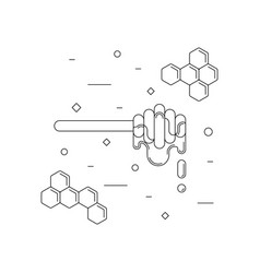 Honey dipper linear icon vector