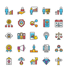 Human resource icons set 3 vector