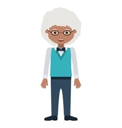 Isolated grandfather cartoon design vector image