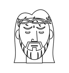 Jesus christ crown of thorns outline vector