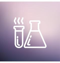 Lab supplies thin line icon vector