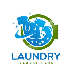 laundry logo design template vector image